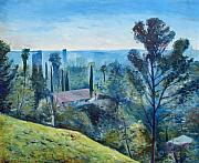 Enver Larney Art - Hollywood Hills California USA 1997  by Enver Larney