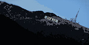 Los Angeles Digital Art Metal Prints - Hollywood Pop Art Metal Print by Brad Scott