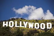 Movie Art Photo Framed Prints - Hollywood Sign Framed Print by Anthony Citro