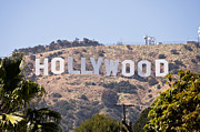 Editorial Photo Framed Prints - Hollywood Sign Photo Framed Print by Paul Velgos