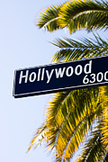 Popular Art - Hollywood Street Sign Los Angeles California by Paul Velgos