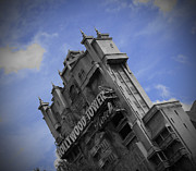 Featured Pyrography Framed Prints - Hollywood Studios Tower Of Terror Framed Print by AK Photography