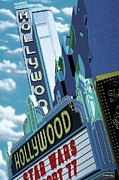 Groovy Posters - Hollywood Theater Poster by Anthony Ross