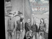 Undead Drawings Posters - HollywoodUndead Poster by Katherine Paggeot