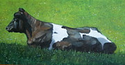 Tranquil Pastels - Holstein Cow In Sunshine by Joyce Geleynse