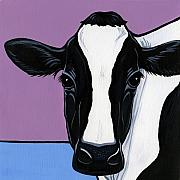 Black Art Paintings - Holstein by Leanne Wilkes
