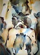 Leather Paintings - Holstein On Holstein by Charlie Spear