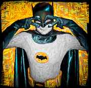 Super Hero Mixed Media - Holy Batusi Batman by Jeff Adkins