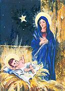 Religious Art Painting Posters - Holy Christmas no. 2 Poster by Elisabeta Hermann