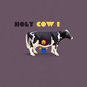 Lego Digital Art Posters - Holy Cow Art Poster by Michael  Murray