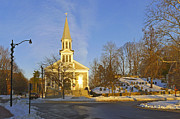 Concord Massachusetts Metal Prints - Holy Family Church Concord Mass Metal Print by Frank Winters