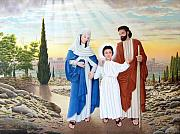 Jerusalem Paintings - Holy Family by Conrad Mieschke