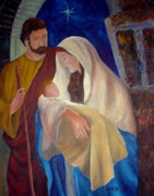 Manger Posters - Holy Family Poster by Marita McVeigh