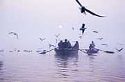 Religious Prints Photos - Holy Ganges by Agnessa Belvede