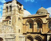 Holy Digital Art - Holy Sepulchre Church by Munir Alawi