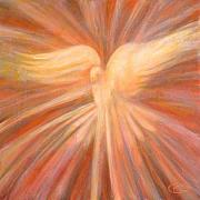 Holy Spirit Painting Prints - Holy Spirit Appearing As A Dove Print by Kip Decker