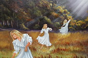 Landscaping Paintings - Holy Spirit Come by Sallie Reid Carter