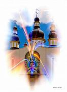 Canada Art Mixed Media Prints - Holy Trinity Cathedral  Print by Madeline M Allen