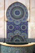 Northern Africa Metal Prints - Holy Water Fountain Hassan Ii Mosque Casablanca Metal Print by Ralph Ledergerber