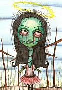 Gothic Horror Prints - holy Zombie Print by  Abril Andrade Griffith