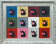 Patriotism Painting Originals - Homage to Banksy by Michael Laurent