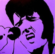 Icon Painting Prints - Homage To Elvis Print by John  Nolan