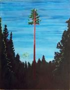 Strength Paintings - Homage to Emily Carr by Susan M Woods