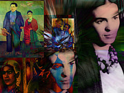 Diego Rivera Digital Art Posters - Homage to Frida Poster by Janet Kearns