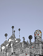 Barcelona Mixed Media Prints - Homage to Gaudi Print by Andy  Mercer