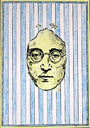 Decorative Print Mixed Media - Homage To John Lennon  by John  Nolan