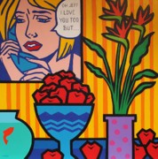 Matisse Framed Prints - Homage to Lichtenstein and Wesselmann Framed Print by John  Nolan