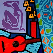 Music Metal Prints - Homage to Matisse II Metal Print by John  Nolan