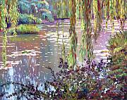Impressionism Glass Framed Prints - Homage to Monet Framed Print by David Lloyd Glover