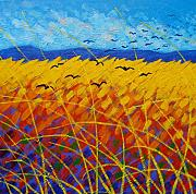 Canvas Crows Prints - Homage To Vincent Print by John  Nolan