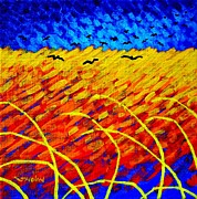 Crows Paintings - Homage To Vincents Wheatfield by John  Nolan