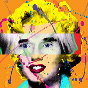 Layered Prints - Homage to Warhol Print by Gary Grayson