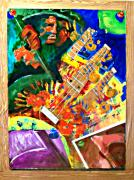 Integral Mixed Media Posters - Hombre con guitarra Poster by Elio Lopez