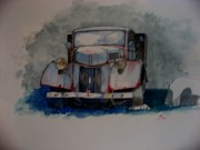 Truck Drawings Framed Prints - Home again Framed Print by Ray Agius