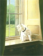 Westie Terrier Paintings - Home Alone by Barbara Walker