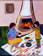 Southwest Images And Landscapes - Home and Hearth in Taos by Betty Pieper