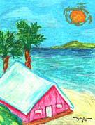 Hawaiian Art Pastels Prints - Home by Shore Print by William Depaula