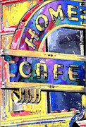 Kansas City Mixed Media Framed Prints - Home Cafe Framed Print by Gary Carson