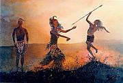 Tribes Painting Prints - Home Comeing Print by Richard Barham