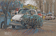 Drawing Pastels Originals - Home Depot Parking by Donald Maier