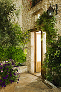 French Doors Metal Prints - Home Entrance and Courtyard Metal Print by Andersen Ross