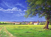 Farm Fields Paintings - Home Field by Anthony Rule