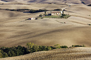 Tuscan Hills Framed Prints - Home in Isolated Landscape Framed Print by Jeremy Woodhouse