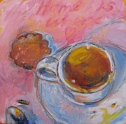 Cookie Painting Prints - Home is Where the Heart Is Print by Susan Davies