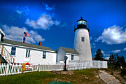 Pemaquid Lighthouse Framed Prints - Home Lighthouse Framed Print by Rick Bragan