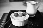 Home Made Food Photos - Home Made Apple Crumble Dessert With Grapes Served In A Gastro Pub Scotland Uk by Joe Fox